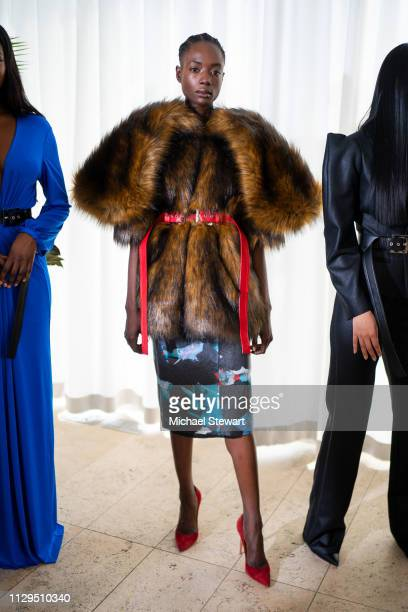 A model poses during the Aliette Presentation during New York Fashion Week The Shows at The Standard East Village on February 13 2019 in New York City