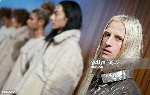 A model poses during the Collina Strada presentation during Fall 2016 MADE Fashion Week at The Standard on February 13 2016 in New York City