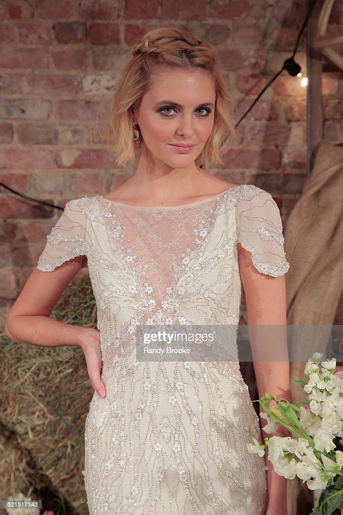 Jenny Packham Bridal Spring/Summer 2017 Presentation : News Photo