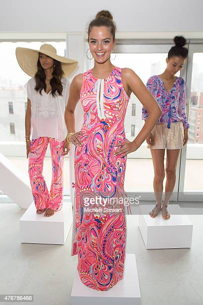 A model poses during the Lilly Pulitzer Resort 2016 Collection Presentation at the Sky Room at the New Museum on June 11 2015 in New York City