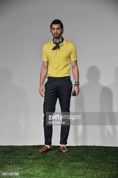 A model poses during the Nautica Presentation at Skylight Clarkson Sq on July 13 2016 in New York City
