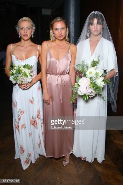 Model poses during the Reformation Wedding Spring/Summer 2018 bridal fashion show on April 19, 2017 in New York City.