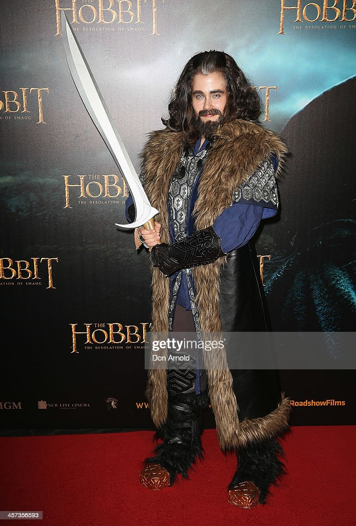 A model poses during the Sydney premiere for The Hobbit: Demolition Of Smaug at Event Cinemas George Street on December 17, 2013 in Sydney, Australia.