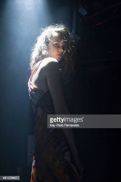A model poses during the Y Project Presentation as part of the Paris Fashion Week Womenswear Spring/Summer 2016 on October 2 2015 in Paris France