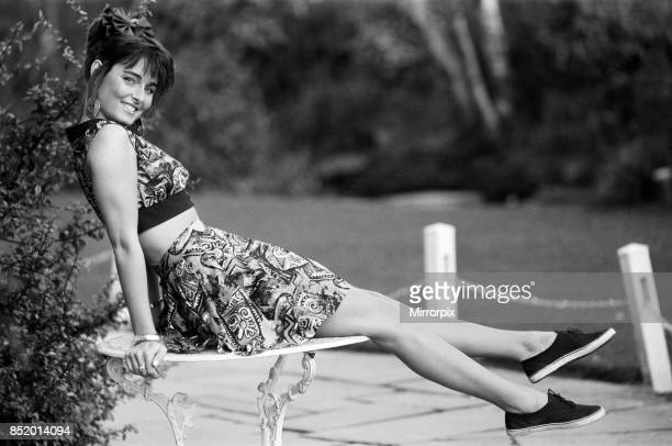 Model poses for a fashion shoot 17th February 1988
