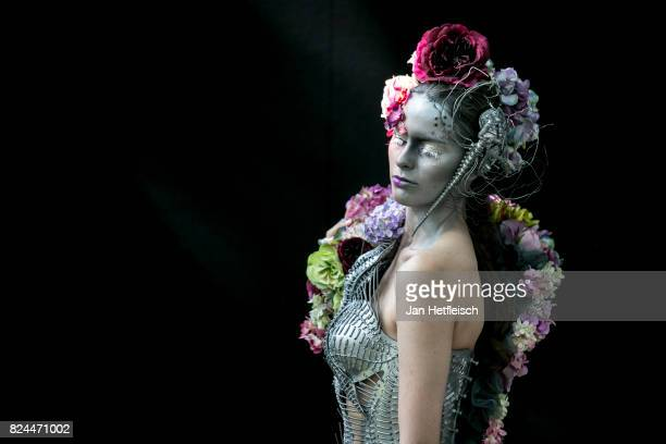 KLAGENFURT KLAGENFURT AUSTRIA JULY 30 A model poses for a picture during the 'creative makeup' competition on the third day of the 20th World...