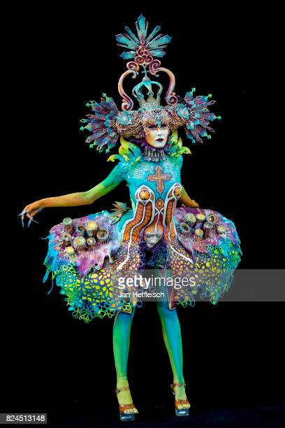 KLAGENFURT KLAGENFURT AUSTRIA JULY 30 A model poses for a picture during the 'special effects' competition on the third day of the 20th World...