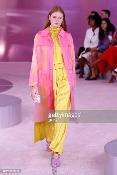 Model poses for Kate Spade New York during New York Fashion Week at New York Public Library on September 7, 2018 in New York City.