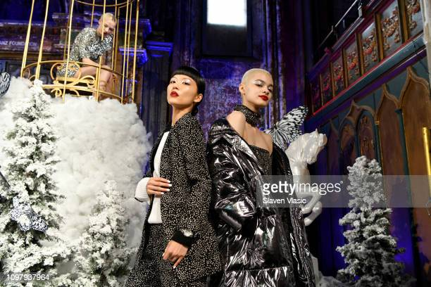 Model poses for the Alice + Olivia By Stacey Bendet presentation during New York Fashion Week: The Shows at The Angel Orensanz Foundation on February...
