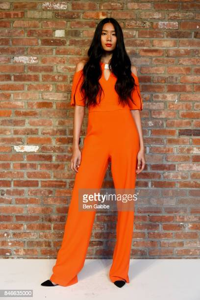 A model poses for the Kimora Lee Simmons Presentation during New York Fashion Week at The Bowery Hotel on September 13 2017 in New York City