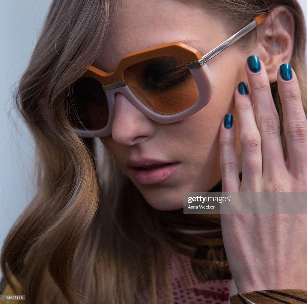 07aaac0aa8ab JINsoon at Karen Walker Fall 2015 New York Fashion Week   News Photo