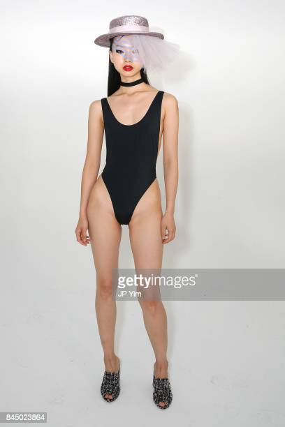 A model poses on the runway at the Eugenia Kim Presentation during New York Fashion Week The Shows at Pier 59 on September 9 2017 in New York City