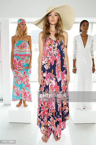 A model poses wearing Lilly Pulitzer Resort 2016 Presentation at The Sky Room at The New Museum on June 11 2015 in New York City