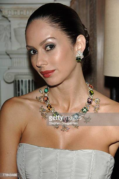 ACCESS** A model poses wearing Tiffany jewelry at Simply Spectacular Tiffany Co Celebrates 2008 Blue Book Collection at Greystone Mansion on November...