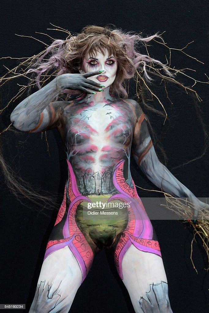 Gibraltar Face Body Paint Festival Day Wikifeet 1