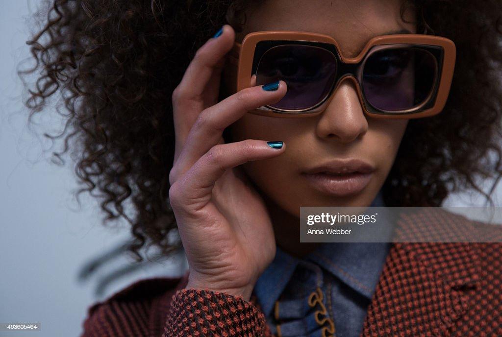 JINsoon at Karen Walker Fall 2015 New York Fashion Week : News Photo