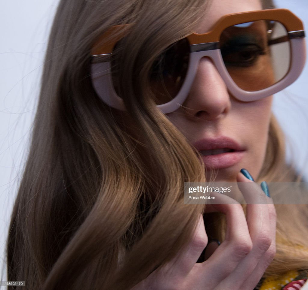 6543d3cf928b A model poses with JINsoon nails at Karen Walker Fall 2015 New York ...