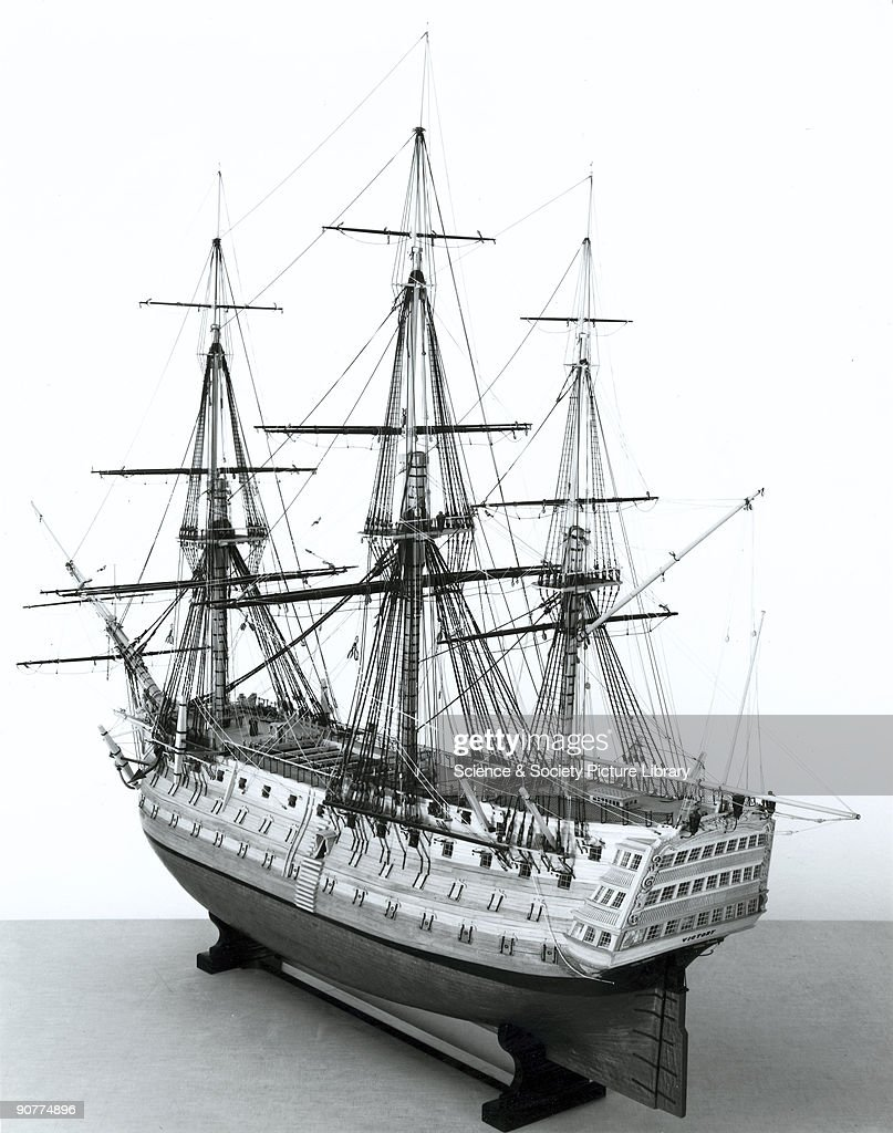 HMS Victory, rigged model in 1805 condition, 1805. : News Photo