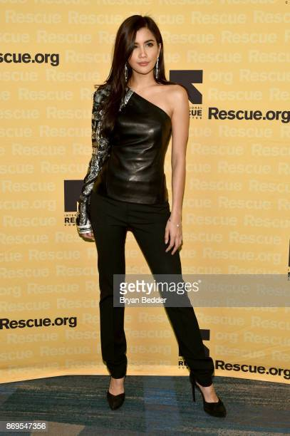 Model Praya Lundberg attends The 2017 Rescue Dinner hosted by IRC at New York Hilton Midtown on November 2 2017 in New York City