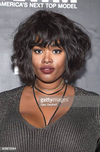 Model Precious Lee attends VH1's 'America's Next Top Model' premiere at Vandal on December 8 2016 in New York City