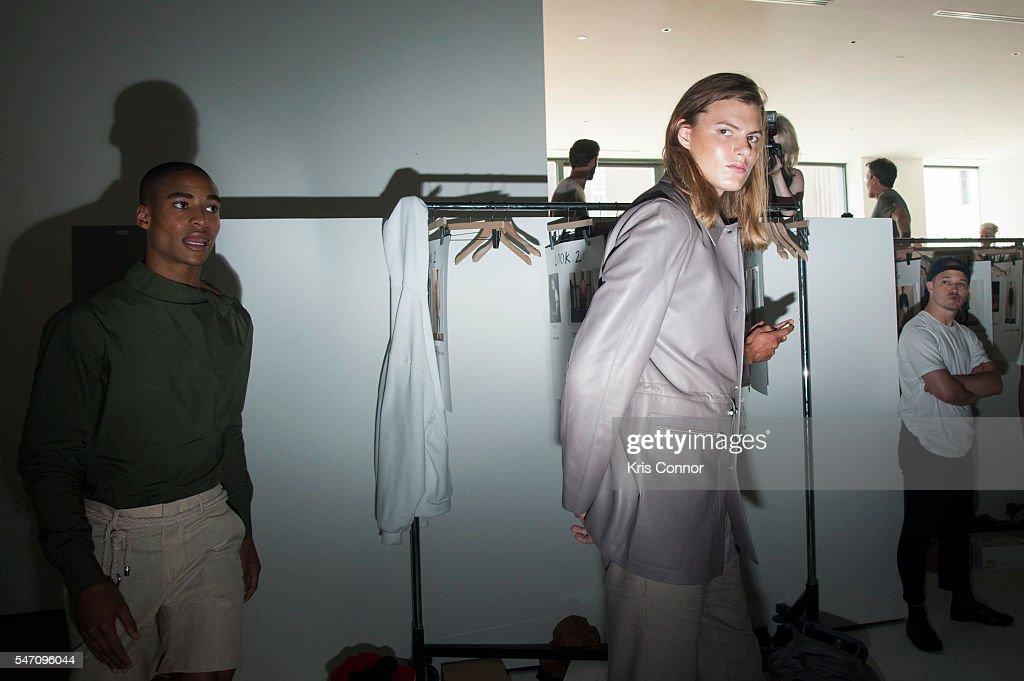 NY: Deveaux - Backstage - New York Fashion Week: Men's S/S 2017