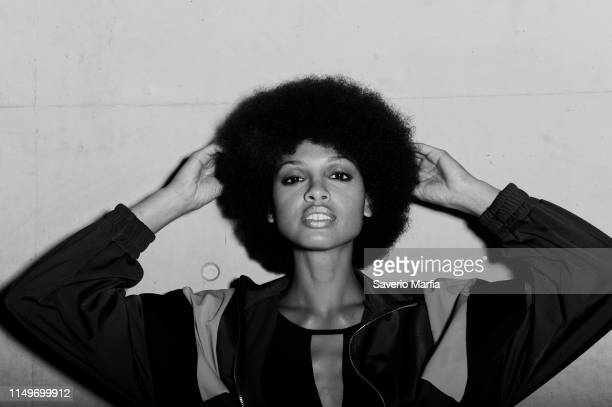 Model prepares backstage ahead of the FDS: The Innovators show at Mercedes-Benz Fashion Week Resort 20 Collections at Carriageworks on May 13, 2019...