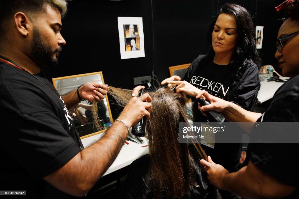 NZL: Mercedes-Benz Presents Knuefermann - Backstage - New Zealand Fashion Week 2018