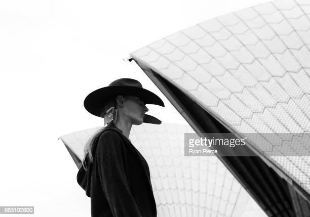 A model prepares backstage at the Dion Lee show during MercedesBenz Fashion Week Resort 18 Collections at Sydney Opera House on May 14 2017 in Sydney...