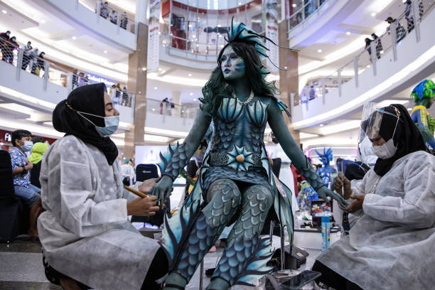 IDN: Body Painting Show : Miracle World The Ocean