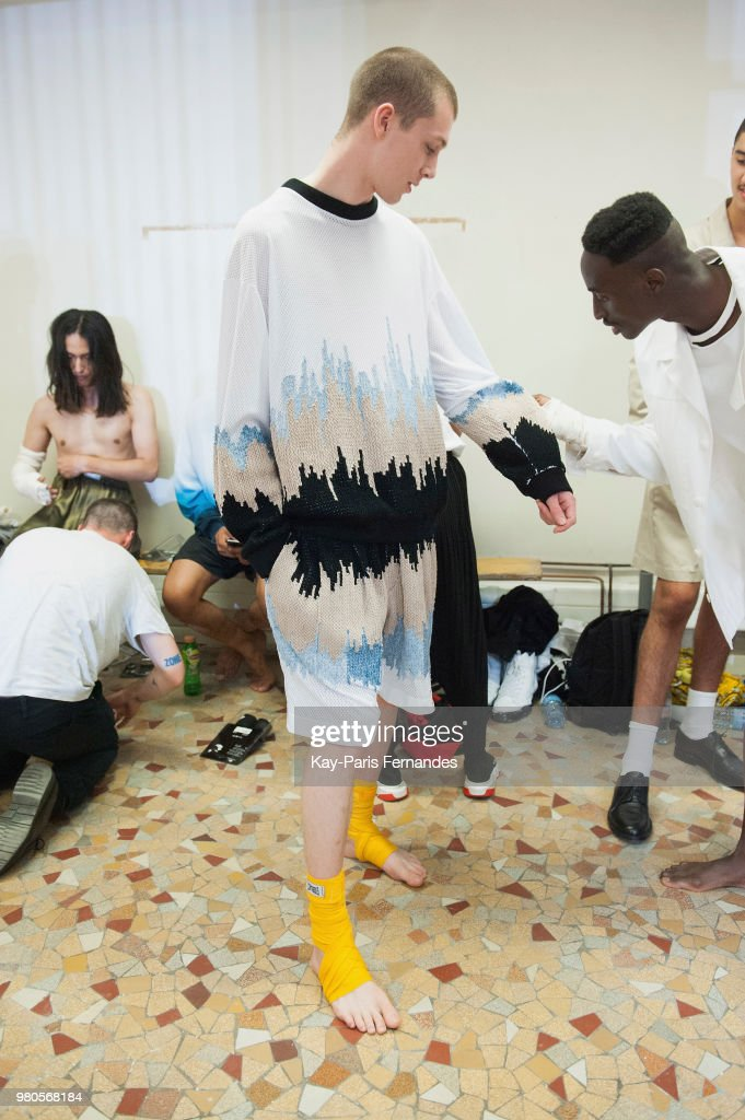 Louis Gabriel Nouchi  : Backstage - Paris Fashion Week - Menswear Spring/Summer 2019