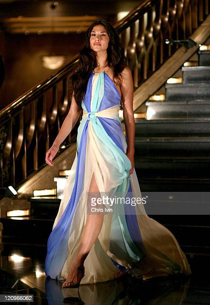 A model presents a creation as part of Collette Dinnagan's Paris collection at the Autumn/Winter 2004 Australian Fashion Week Melbourne October...