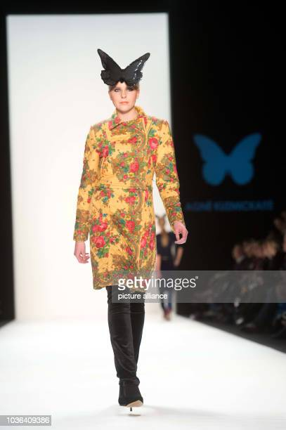 A model presents a creation by Agne Kuzmickaite from iLKthuania at the Baltic Fashion Catwalk show during the MercedesBenz Fashion Week in Berlin...