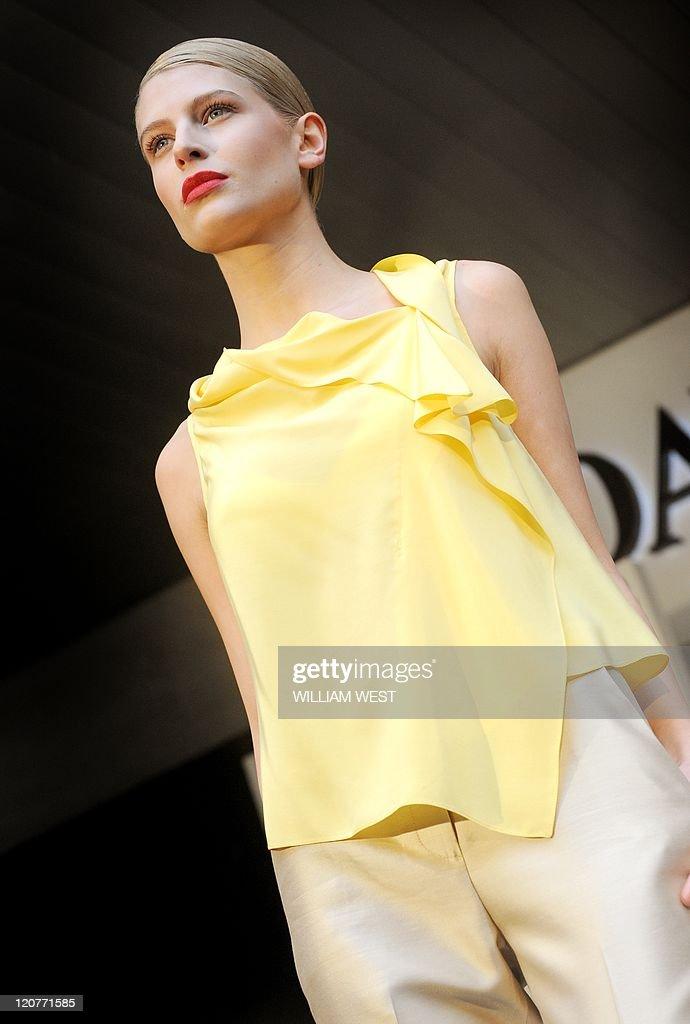 A model presents a creation by Australia : News Photo