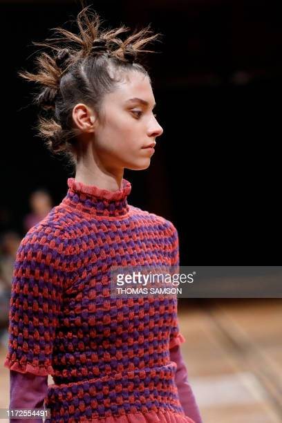 A model presents a creation by Beautiful People during the Women's SpringSummer 2020 ReadytoWear collection fashion show at the Ecole nationale...