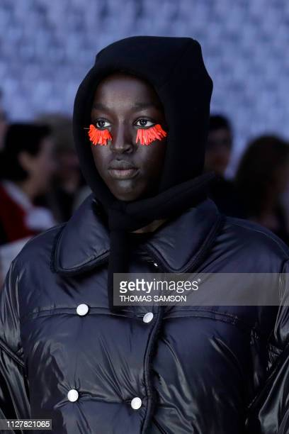 A model presents a creation by Courreges during the Women's FallWinter 2019/2020 ReadytoWear collection fashion show in Paris on February 27 2019