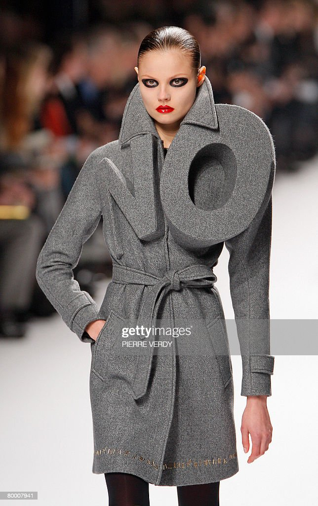 A model presents a creation by Dutch des : News Photo