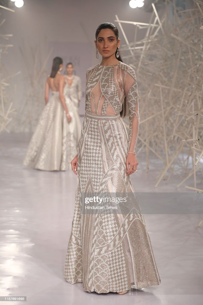 A Model Presents A Creation By Fashion Designers Pankaj And Nidhi On News Photo Getty Images