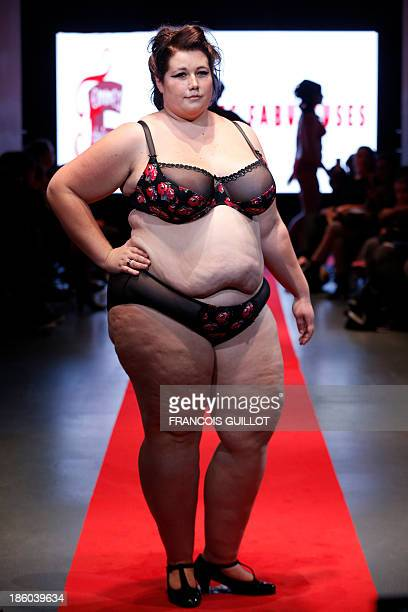 a8722fd3724e7 A model presents a creation by  Femmes fabuleuses  during the first Pulp fashion  week