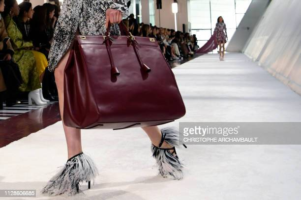 Model presents a creation by Giambattista Valli during the Fall-Winter 2019/2020 Ready-to-Wear collection fashion show in Paris, on March 4, 2019.