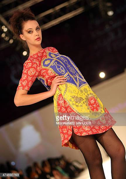 A model presents a creation by Indian designer Shrekahnth during the 2011 Muscat Fashion Week in the Omani capital late on February 23 2011 AFP...