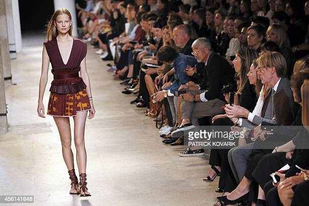 A model presents a creation by Isabel Marant during the 2015 Spring/Summer readytowear collection fashion show on September 26 2014 in Paris AFP...
