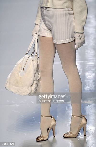 A model presents a creation by Italian designer Anna Molinari for Blugirl during the Autumn/Winter 2008/2009 women's collections at Milan Fashion...