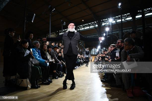 TOPSHOT A model presents a creation by Junya Watanabe Man during the men's Fall/Winter 2019/2020 collection fashion show in Paris on January 18 2019