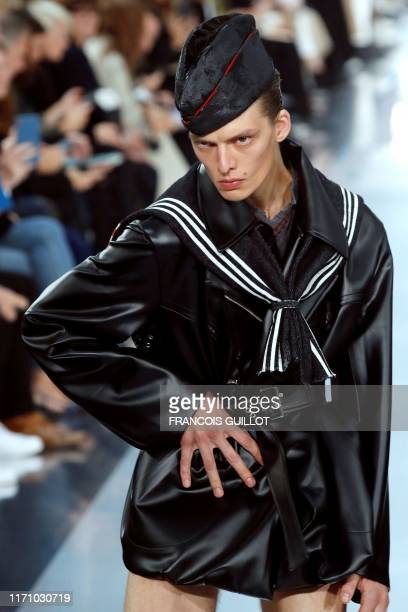A model presents a creation by Maison Margiela during the Women's SpringSummer 2020 ReadytoWear collection fashion show in Paris on September 25 2019