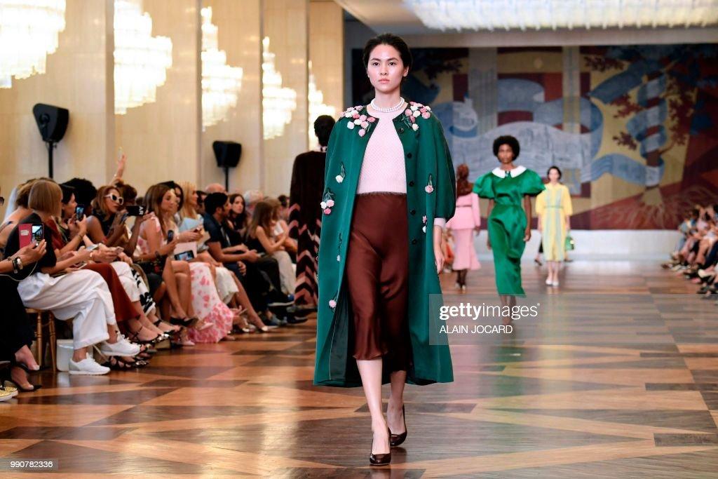 FRA: Ulyana Sergeenko : Runway - Paris Fashion Week - Haute Couture Fall Winter 2018/2019