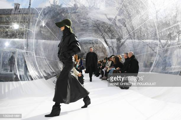 A model presents a creation for Kenzo during the Women's FallWinter 20202021 ReadytoWear collection fashion show in Paris on February 26 2020