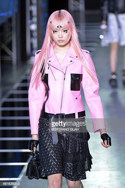 Model presents a creation for Louis Vuitton during the 2016 Spring/Summer ready-to-wear collection fashion show, on October 7, 2015 in Paris. AFP...