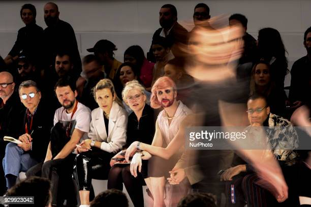 A model presents a Fall/Winter 20182019 collection creation by Portuguese fashion Designer Aleksandar Protic during the 50th edition of Moda Lisboa...