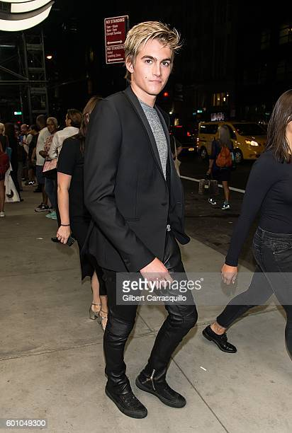 Model Presley Gerber is seen leaving The Daily Front Row's 4th Annual Fashion Media Awards at Park Hyatt New York on September 8 2016 in New York City