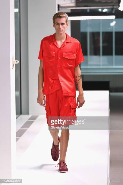 Model Presley Gerber walks the runway at the Sies Marjan show during New York Fashion Week on September 9 2018 in New York City